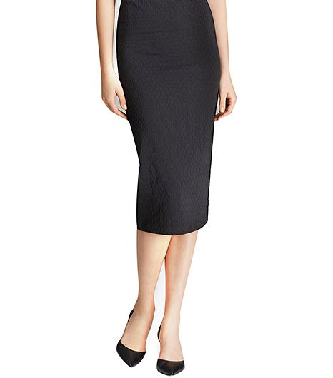 Aqua Pencil Skirt in Texture Chain Link