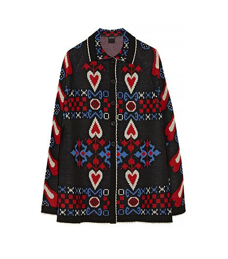 Anna Sui  Patterened Wool-Blend Cape