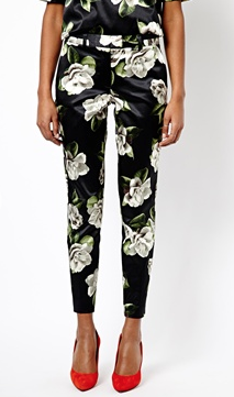 River Island  Highwaist Floral Trouser