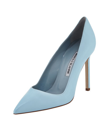 Manolo Blahnik  BB Patent Point-Toe Pump