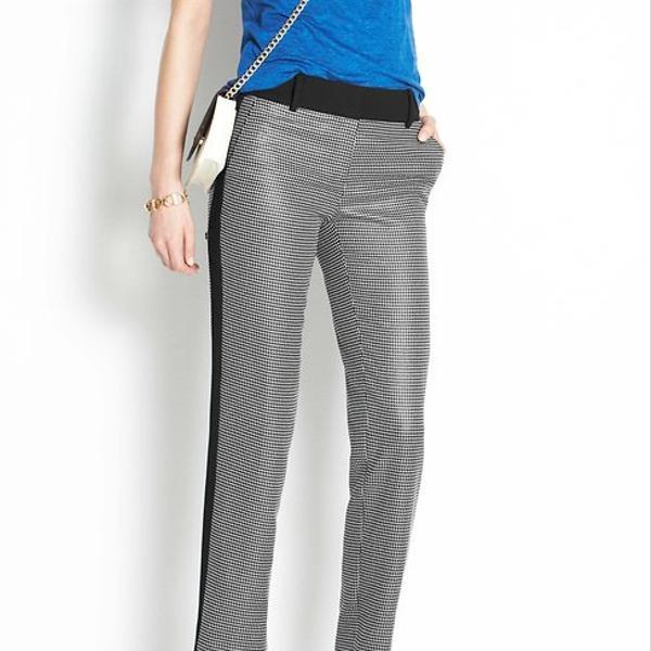 Ann Taylor  Linear Dot Tuxedo Ankle Pants