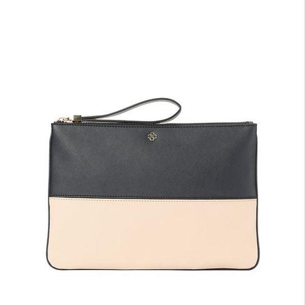 Ann Taylor  Large Colorblock Clutch