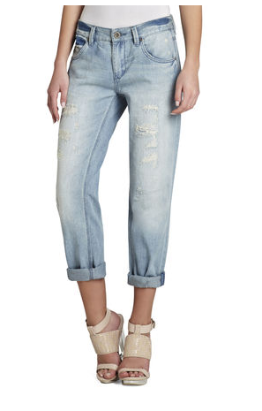 BCBGMAXAZRIA Billie Cropped Boyfriend Denim Pants