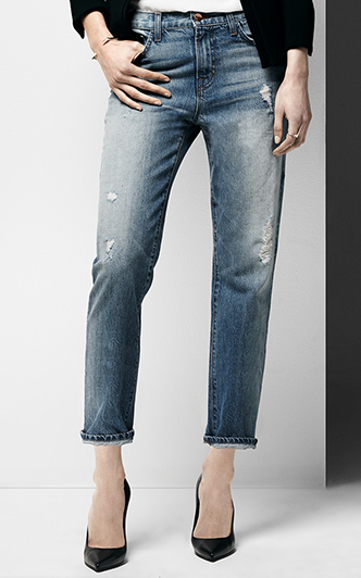J Brand The Ace Cropped Boyfriend Jeans