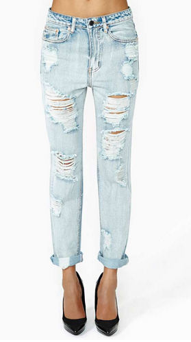 Nasty Gal All Torn Up Boyfriend Jeans