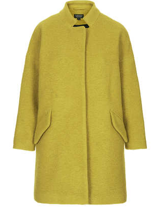 Topshop Wool Notch Neck Coat