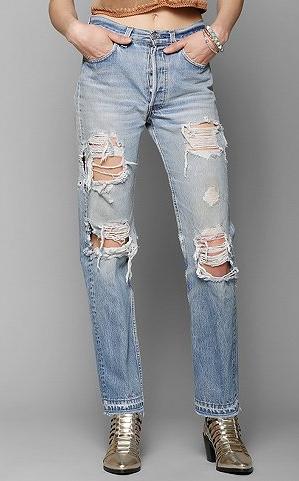 Urban Renewal  Super-Destroyed Levi's Jeans