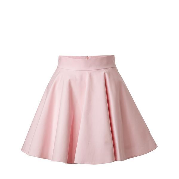 Valentino RED  Stretch Cotton Circle Skirt