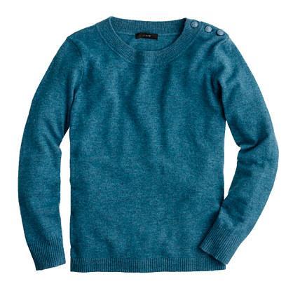 J.Crew  Anchor-Button Sweater