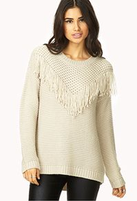 Forever 21  Cowgirl Fringe Sweater