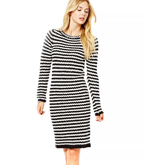 Asos Asos Vila Stripe Knitted Dress