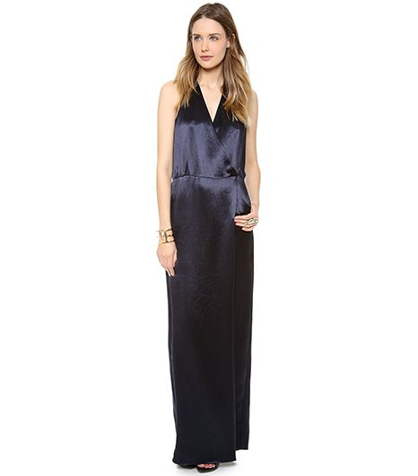 Tibi Long Draped Dress ($495)   There's zero probability you won't turn heads in this dress.