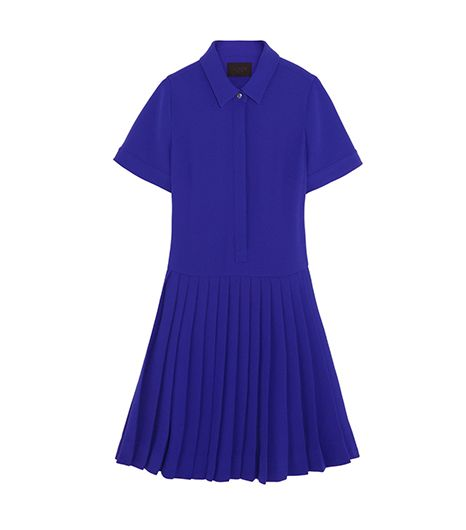 J.Crew Collection Pleated Crepe Shirt Dress ($198)   The bold hue and knife pleats make this shirtdress extraordinary, we'd say.