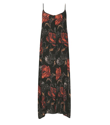 Topshop Garden Floral Slip Dress by Boutique ($180)   Go grunge and pair lace-up boots and wine lips with this floral frock.