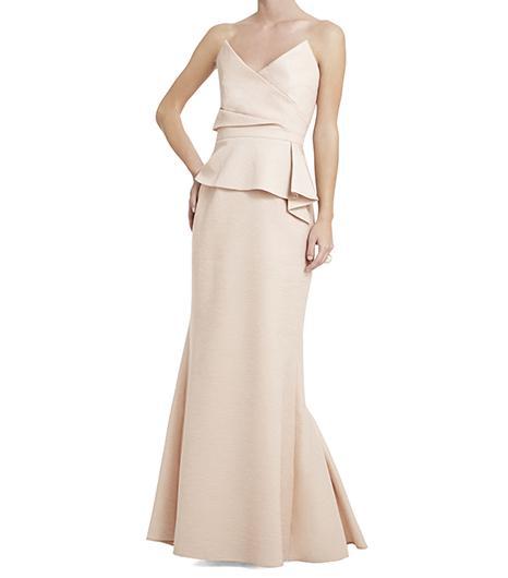 BCBGMAXAZRIA  Gracie Strapless Peplum Gown