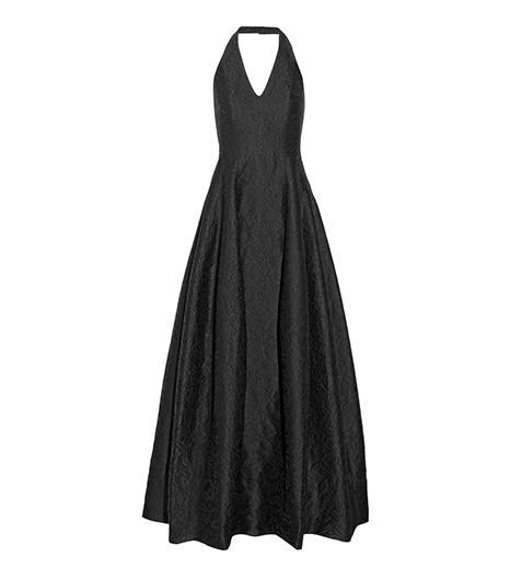 Halston Heritage  Floral-Jacquard Halterneck Gown