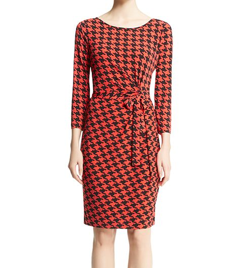 Anne Klein  Houndstooth Wrap Dress