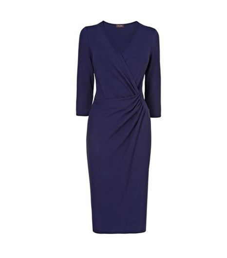 Phase Eight Jerry Cross Front Dress ($131)   If you tend to go for minimal color palettes, opt for this timeless navy dress.