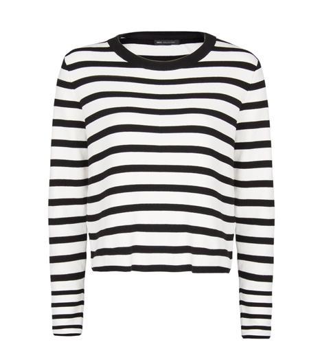 Mango Striped Cropped Sweater