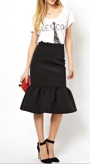 ASOS Premium Pencil Scuba Skirt
