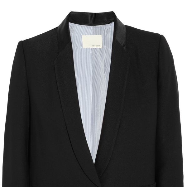 Band of Outsiders  Satin Trimmed Crepe Blazer