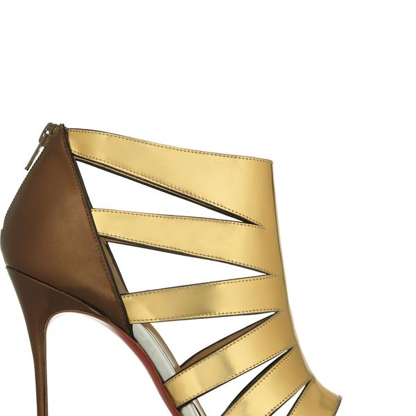 Christian Louboutin  Beauty Cutout Metallic Patent-Leather Sandals