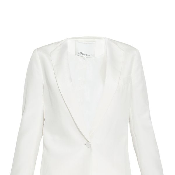 3.1 Phillip Lim Silk Cropped Back Blazer