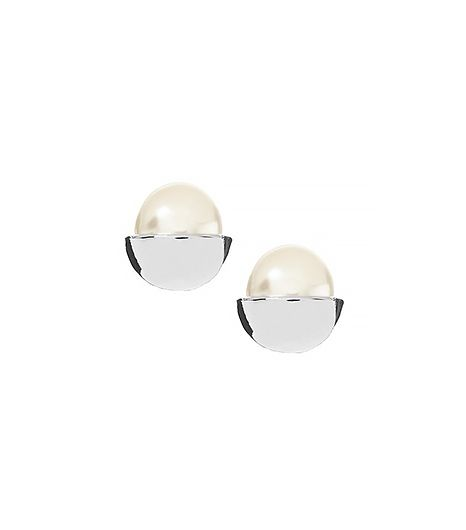 Banana Republic  Pearl Caps Stud Earrings