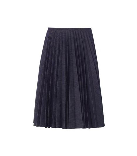 J. W. Anderson Pleated Denim Skirt