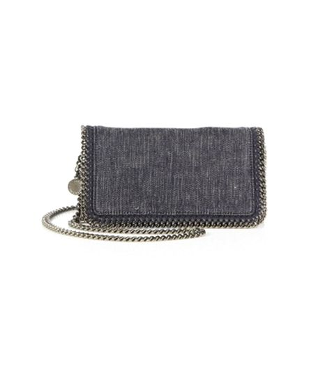 Stella McCartney Denim Fold-Over Convertible Clutch