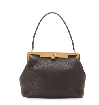 Dolce & Gabbana Sara Pebbled Frame Shoulder Bag
