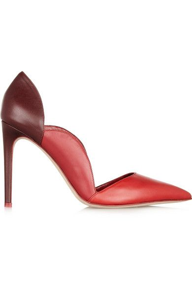 Valentino  Scalloped Leather Pumps