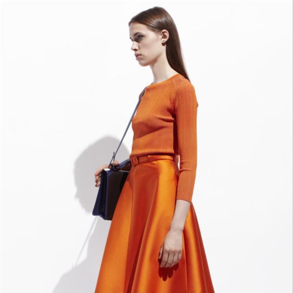 Carven  Satin Pique Skirt