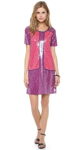 Marc by Marc Jacobs  Viola Sequin Printed Jersey Dress