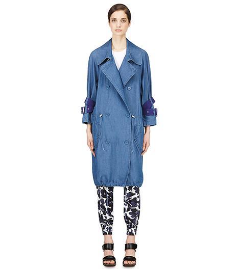 Acne Studios  Denim Belted-Sleeve Jules Coat