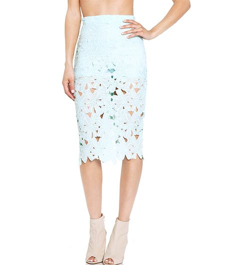Daily Look Venise Lace Pencil Skirt