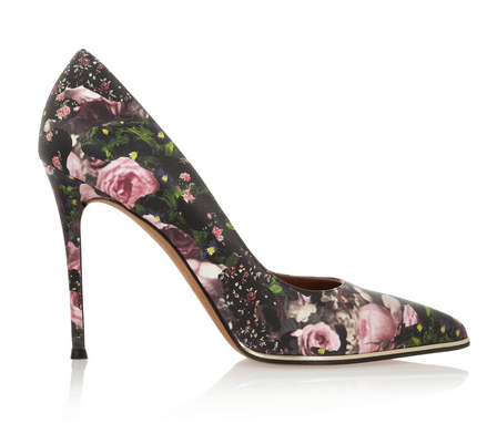 Givenchy  Floral-Print Leather Pumps