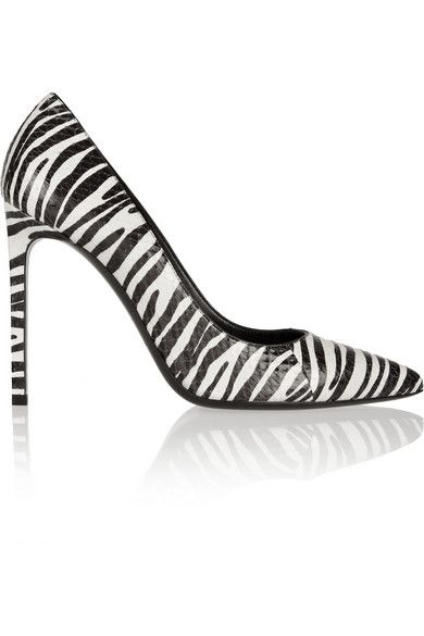 Saint Laurent  Printed Elaphe Pumps