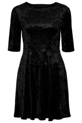 Topshop  Velvet Cut Out Skater Dress