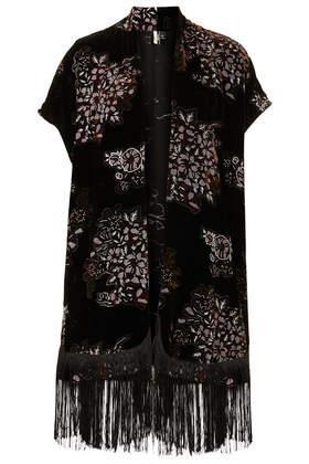 Topshop  Velvet Jacquard Kimono