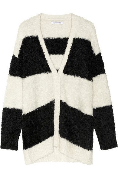 Elizabeth and James  Striped Knitted Cardigan