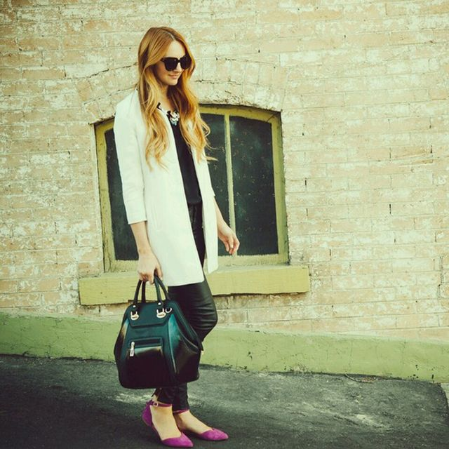 Littlejstyle is wearing: ASOS bag.