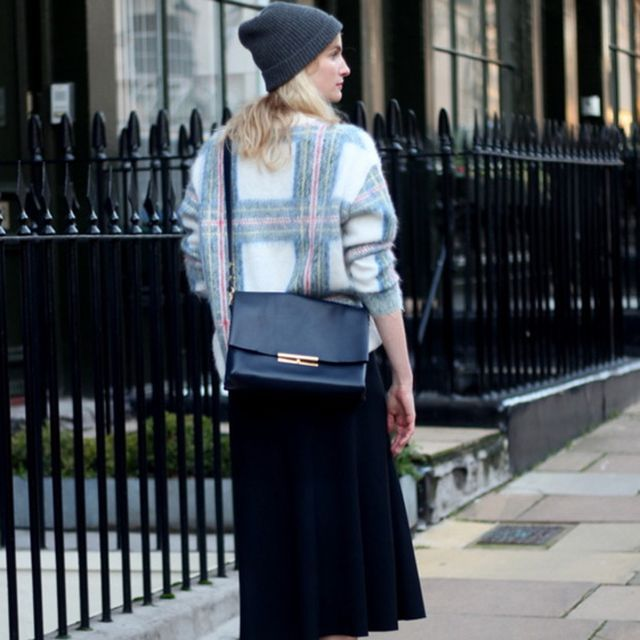 Twofortheshow is wearing: Celine bag, Stella McCartney sweater.