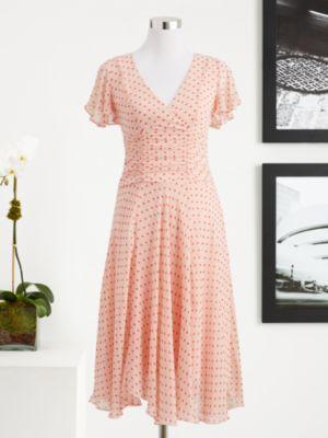 New York & Company  Eva Mendes Collection Isabel Flutter Sleeve Dress