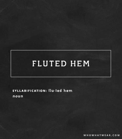 Fluted Hem