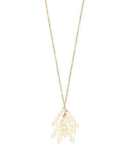 J.Crew  Pearl Tassel Necklace