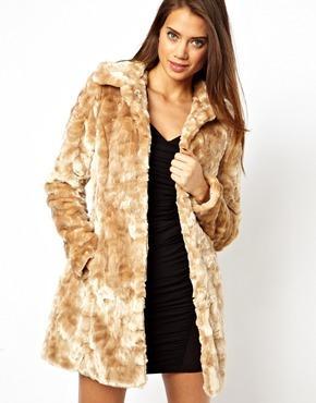 Lipsy Belted Faux Fur Coat