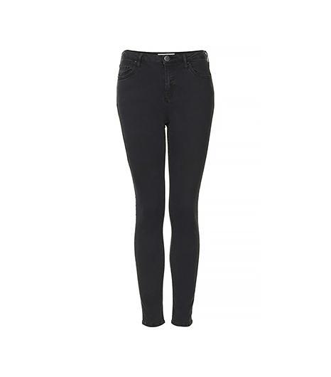 Topshop Moto Washed Black Jamie Jeans
