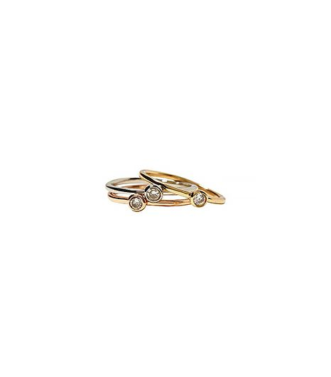 Banana Republic  Mixed Metal Stack Rings
