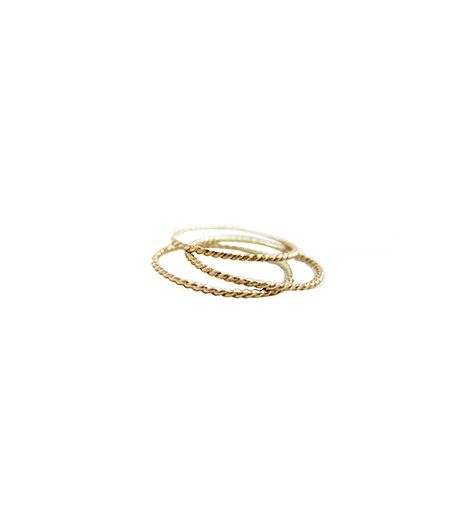 Gramercy Eight  14K Gold Infinity Rope Triple Stacking Rings